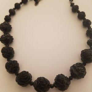 Tarina Tarantino Black Flower Necklace